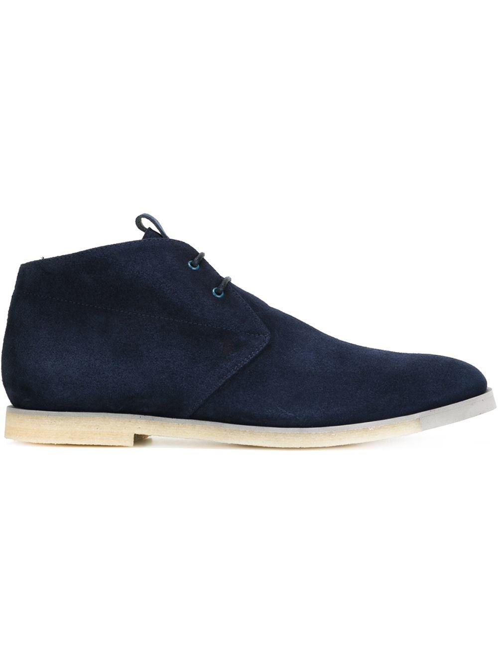 tod 39 s classic desert boots in blue for men lyst. Black Bedroom Furniture Sets. Home Design Ideas