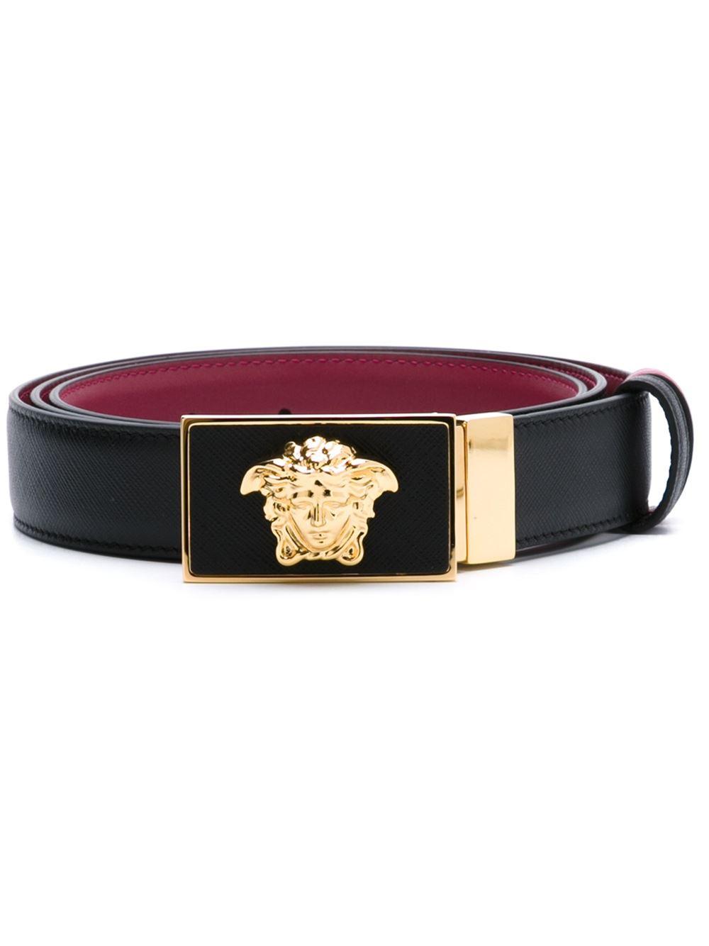 Versace Medusa Reversible Belt In Black For Men Lyst