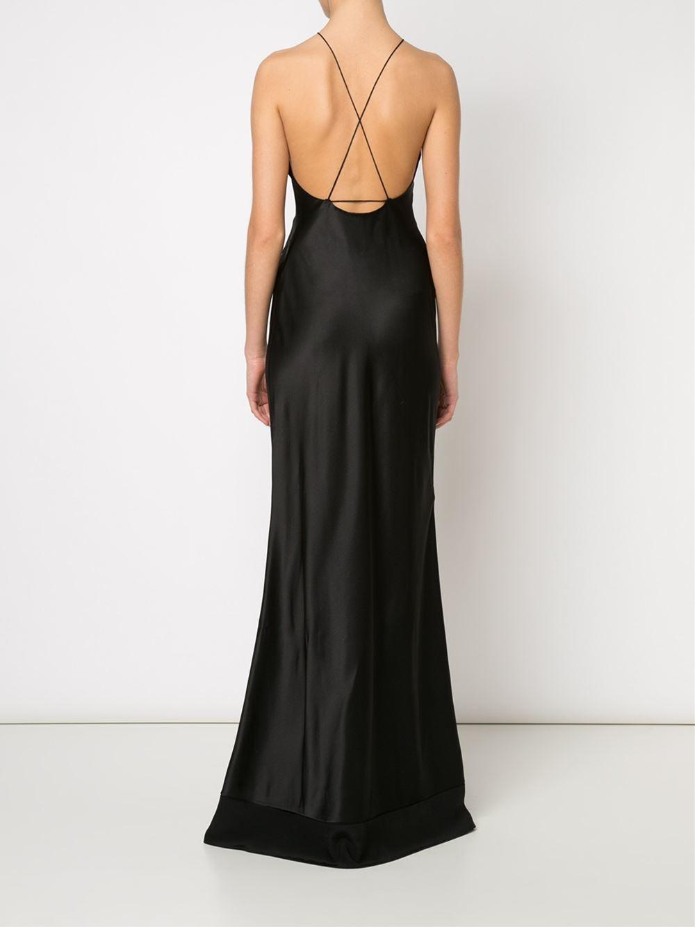 Lyst Calvin Klein Fawn Evening Dress In Black