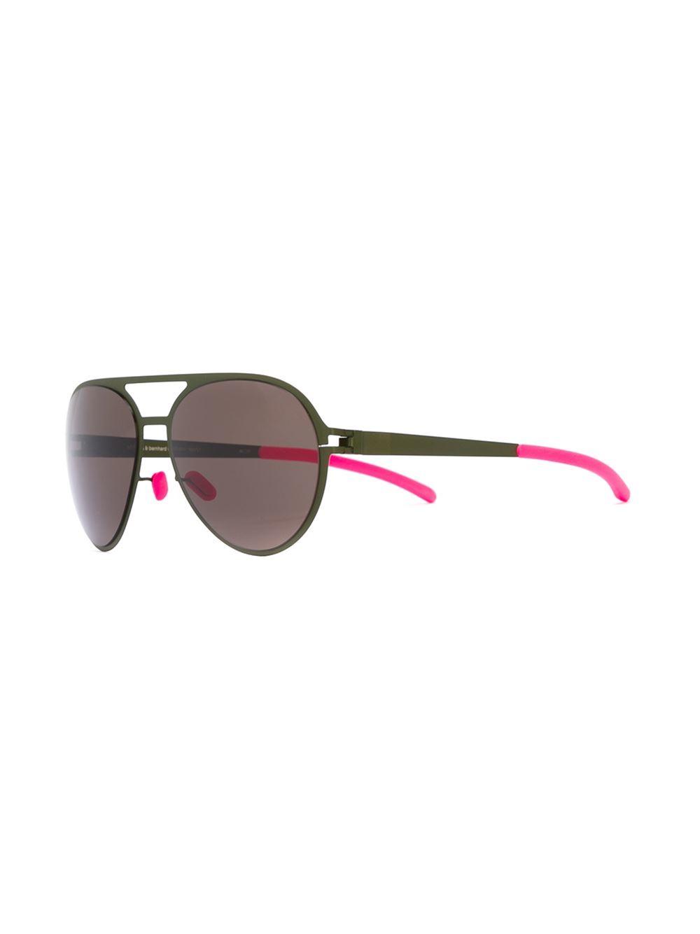 Mykita Bernard Willhem X 'gustl' Sunglasses in Green