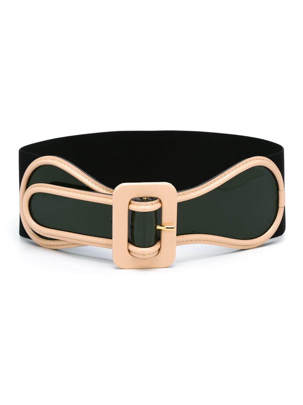 marni wide belt in green lyst