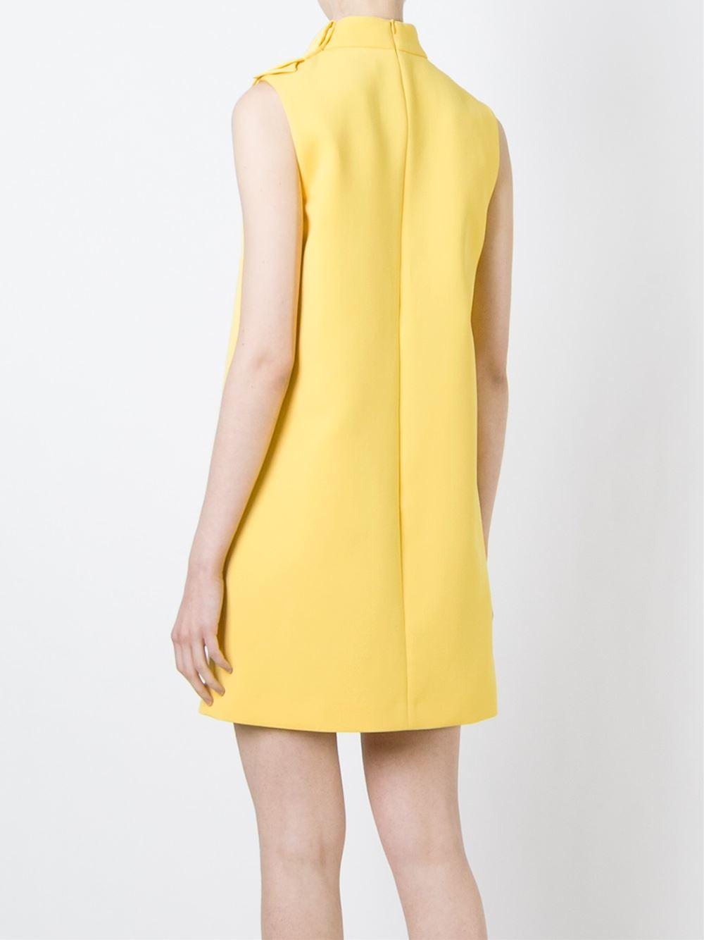 Red Valentino Sleeveless Shift Dress Women Cotton