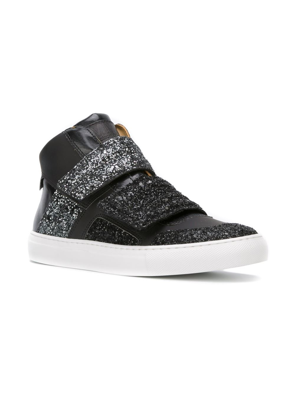 Mm6 by maison martin margiela glitter velcro strap hi top for Mm6 maison margiela