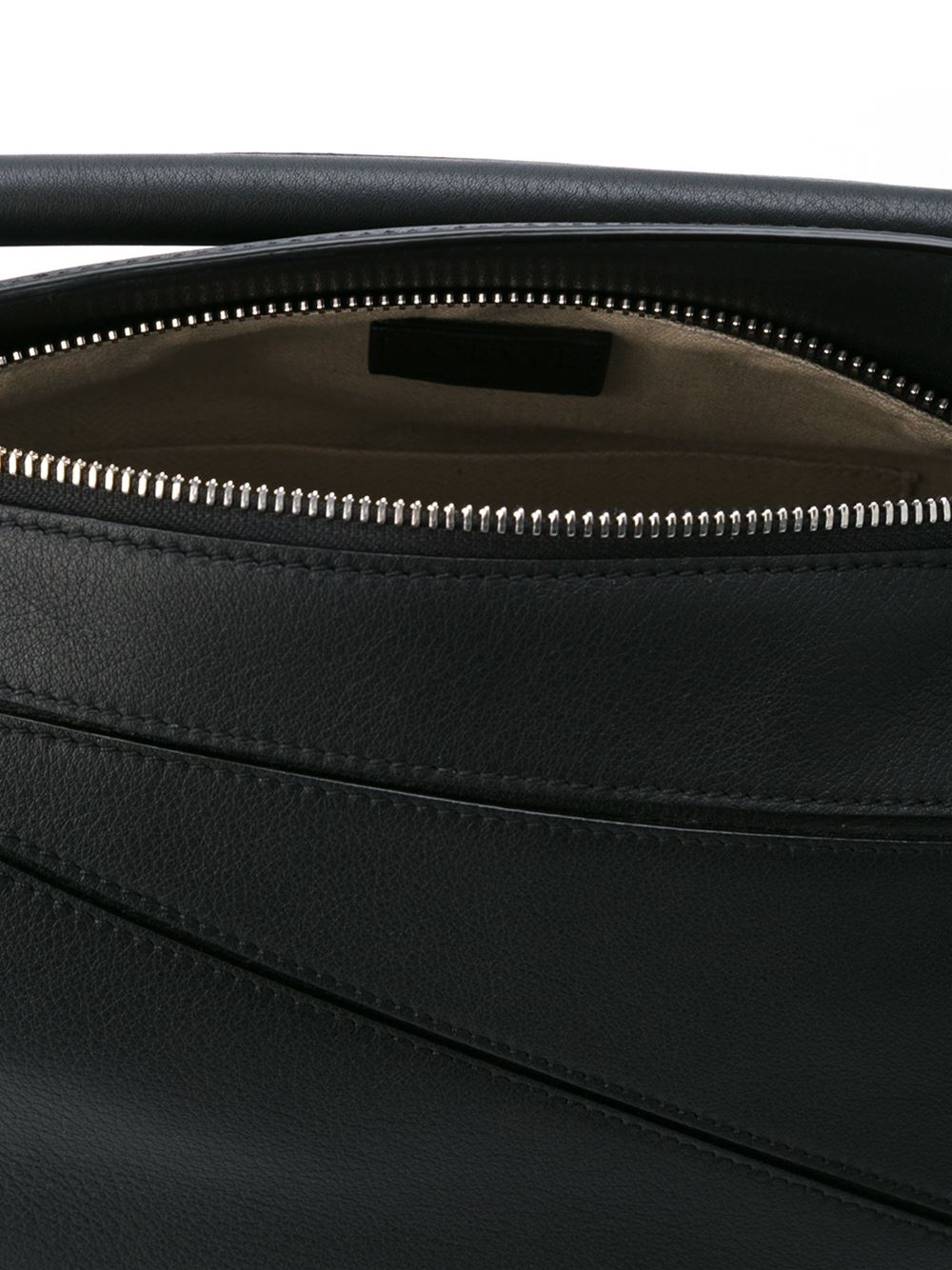 Loewe Puzzle Small Leather Tote in Black