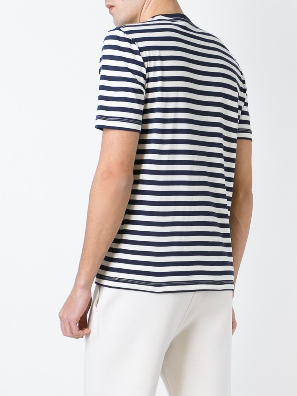 Love moschino Striped T-shirt in Blue for Men