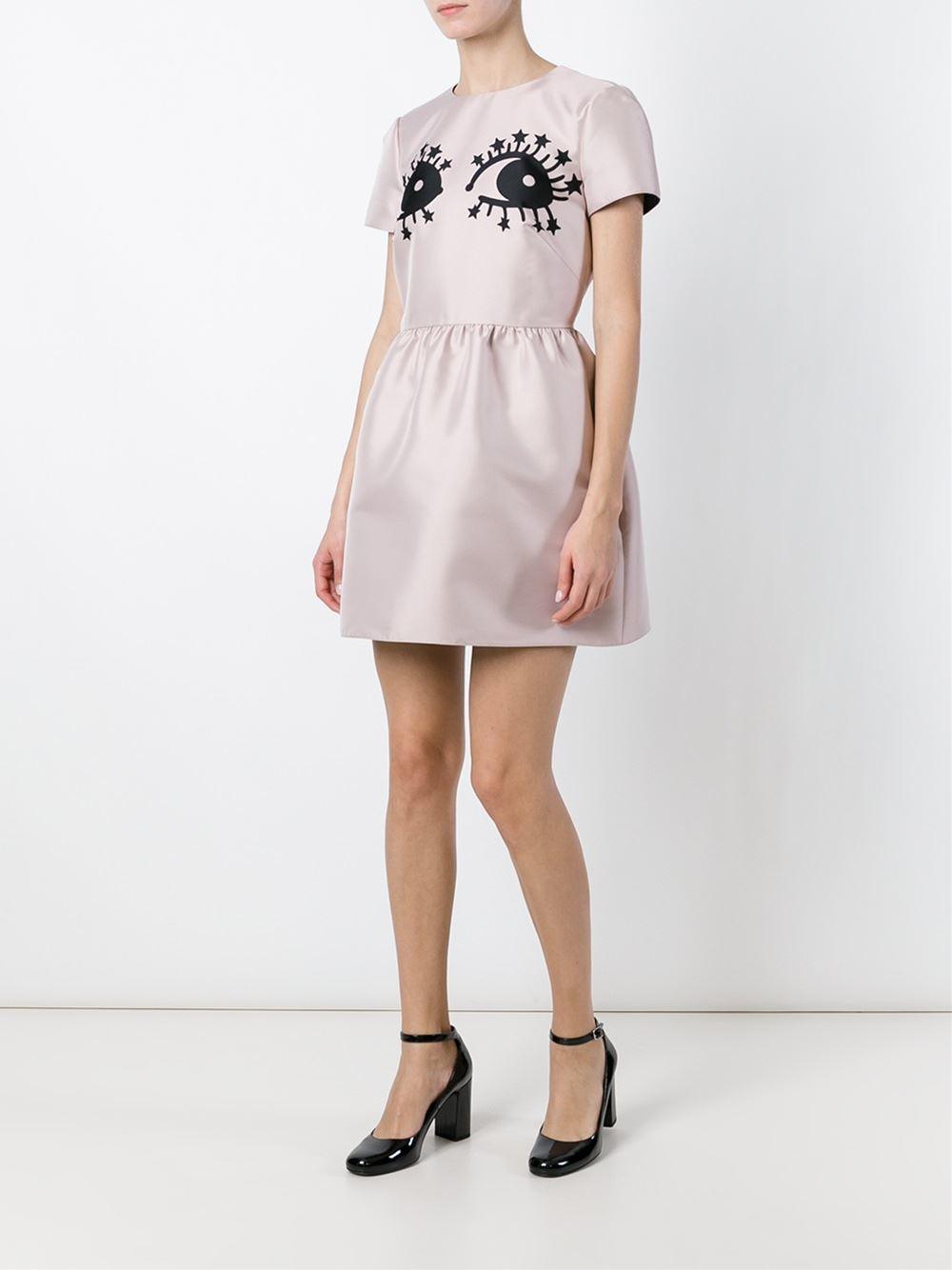 Galerry eye flared dress