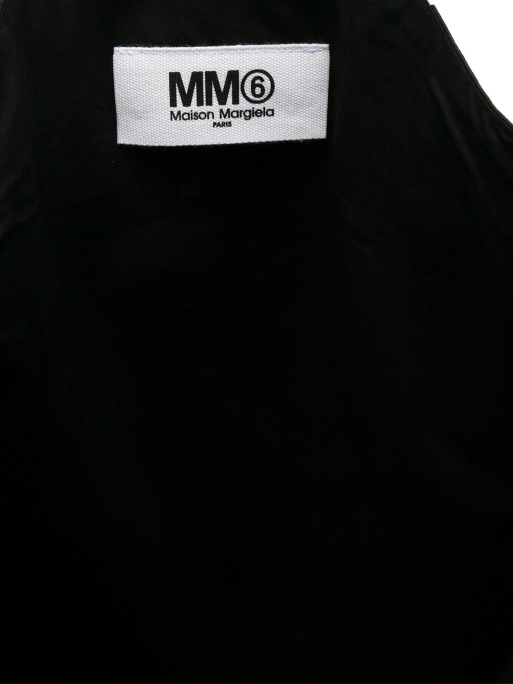 MM6 by Maison Martin Margiela Cotton Paint Splash Print Tote in Black