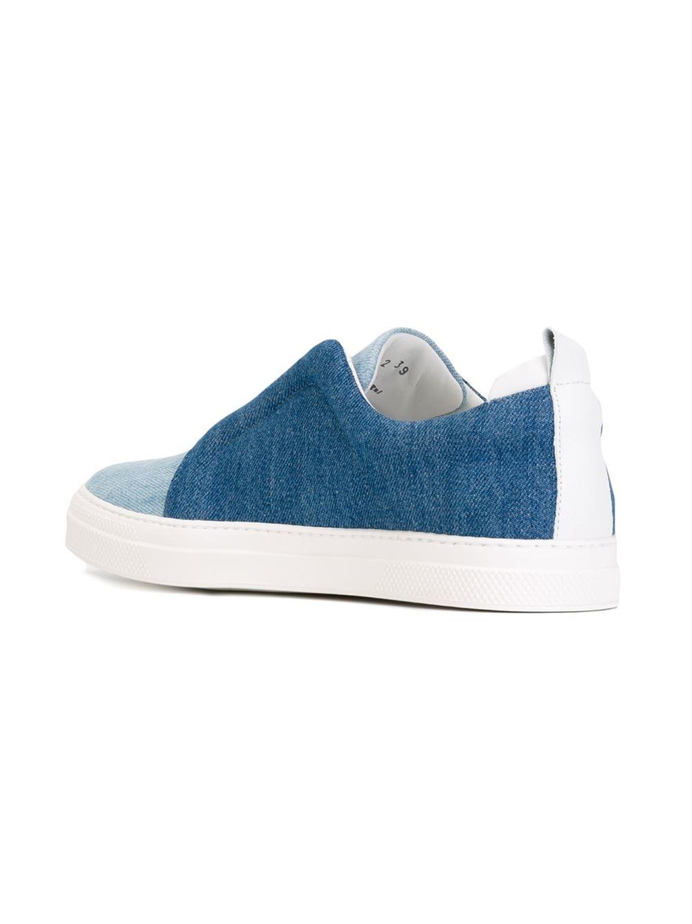 pierre hardy 39 basket 39 slip on sneakers in blue lyst. Black Bedroom Furniture Sets. Home Design Ideas