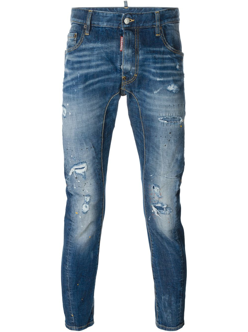 Dsquared tidy Biker Jeans In Blue For Men Lyst