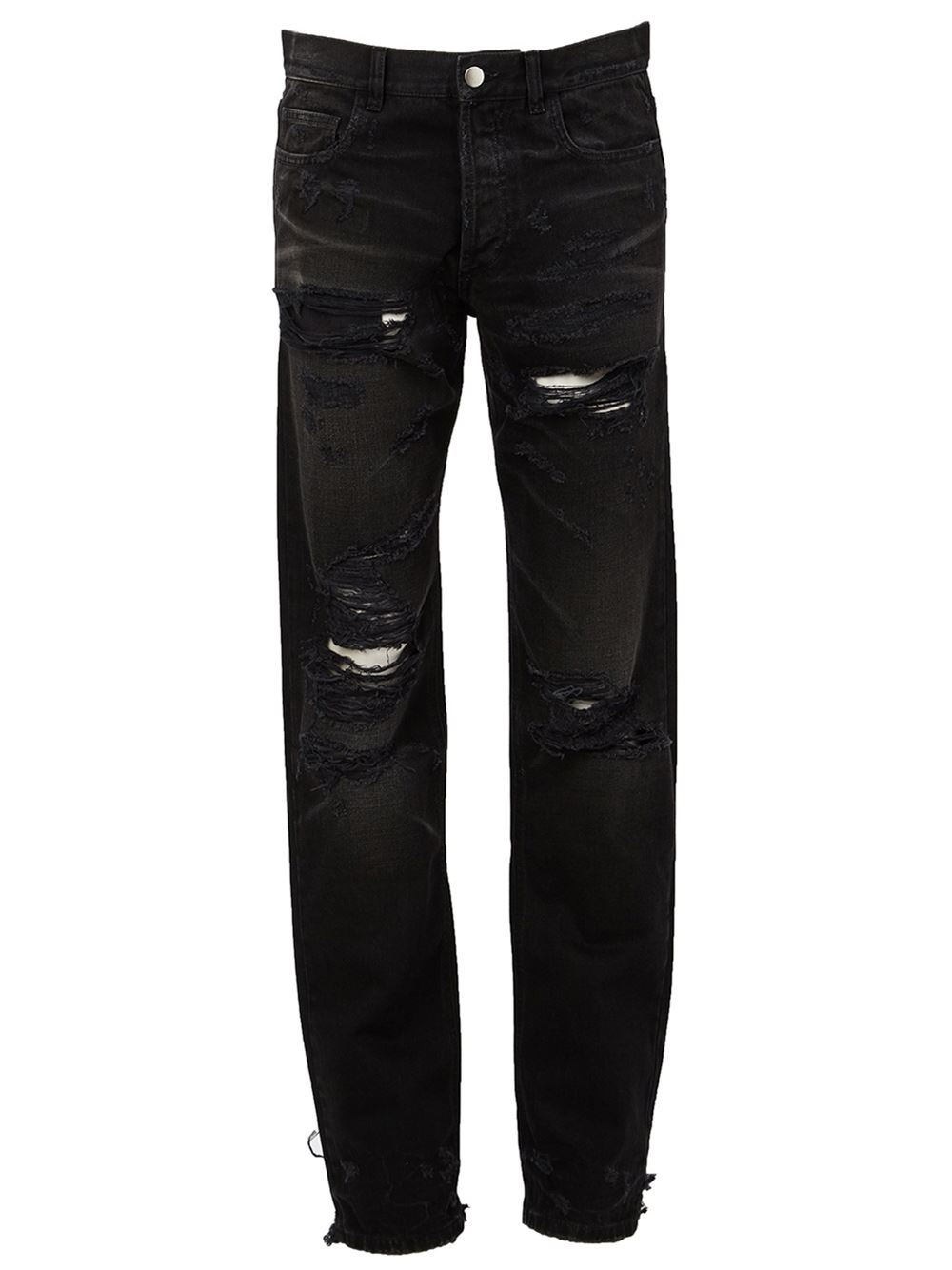 This type of distressed jeans for men combines all the best looks available into one incredibly stylish package. Pair these with a graphic tee or tank top and you're good to go. Destroyed biker jeans are an easy way to add a lot of style to a simple outfit.