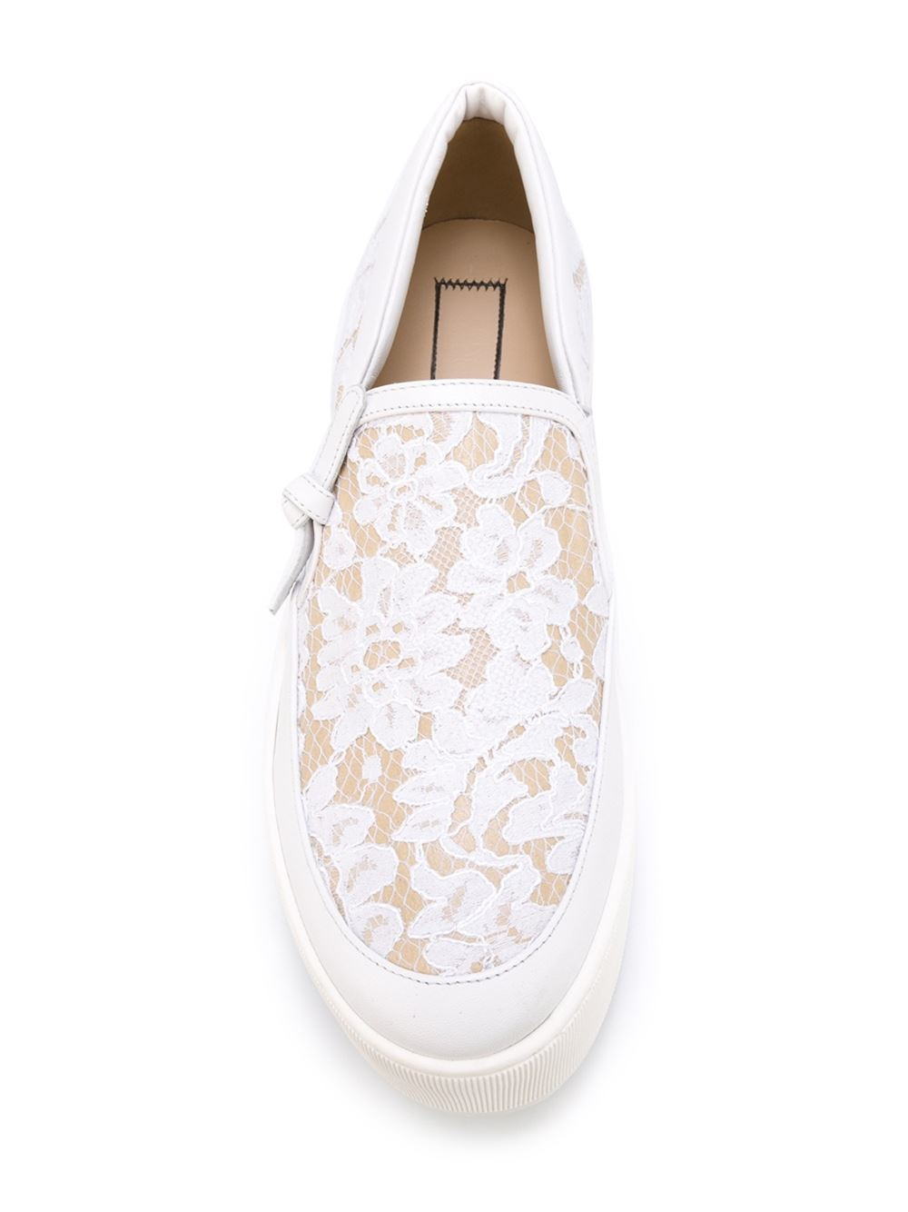 N°21 No21 Lace Slip-on Sneakers in White