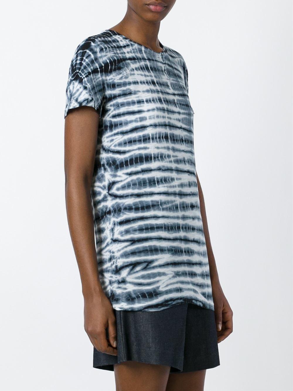 Proenza schouler tie dye t shirt in blue lyst for Black and blue tie dye t shirts