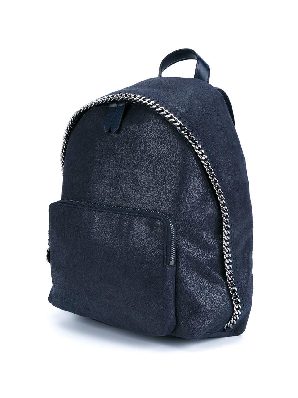 stella mccartney fallabella backpack in blue lyst. Black Bedroom Furniture Sets. Home Design Ideas