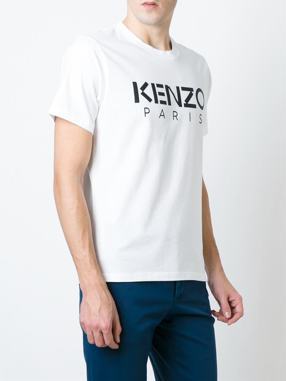 kenzo paris t shirt men cotton m in white for men lyst. Black Bedroom Furniture Sets. Home Design Ideas