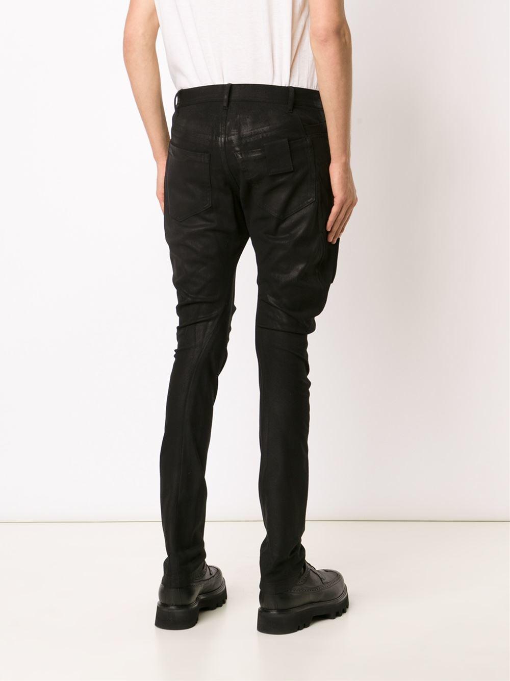 Julius Coated Stretch Patch Jeans Men Cotton
