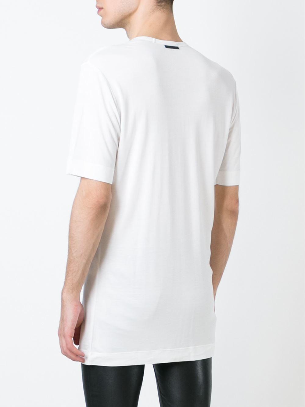 Lyst Diesel Black Gold Scoop Neck T Shirt In White For Men