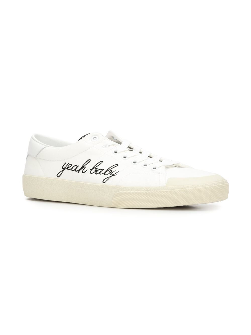 saint laurent yeah baby sneakers in white for men lyst. Black Bedroom Furniture Sets. Home Design Ideas