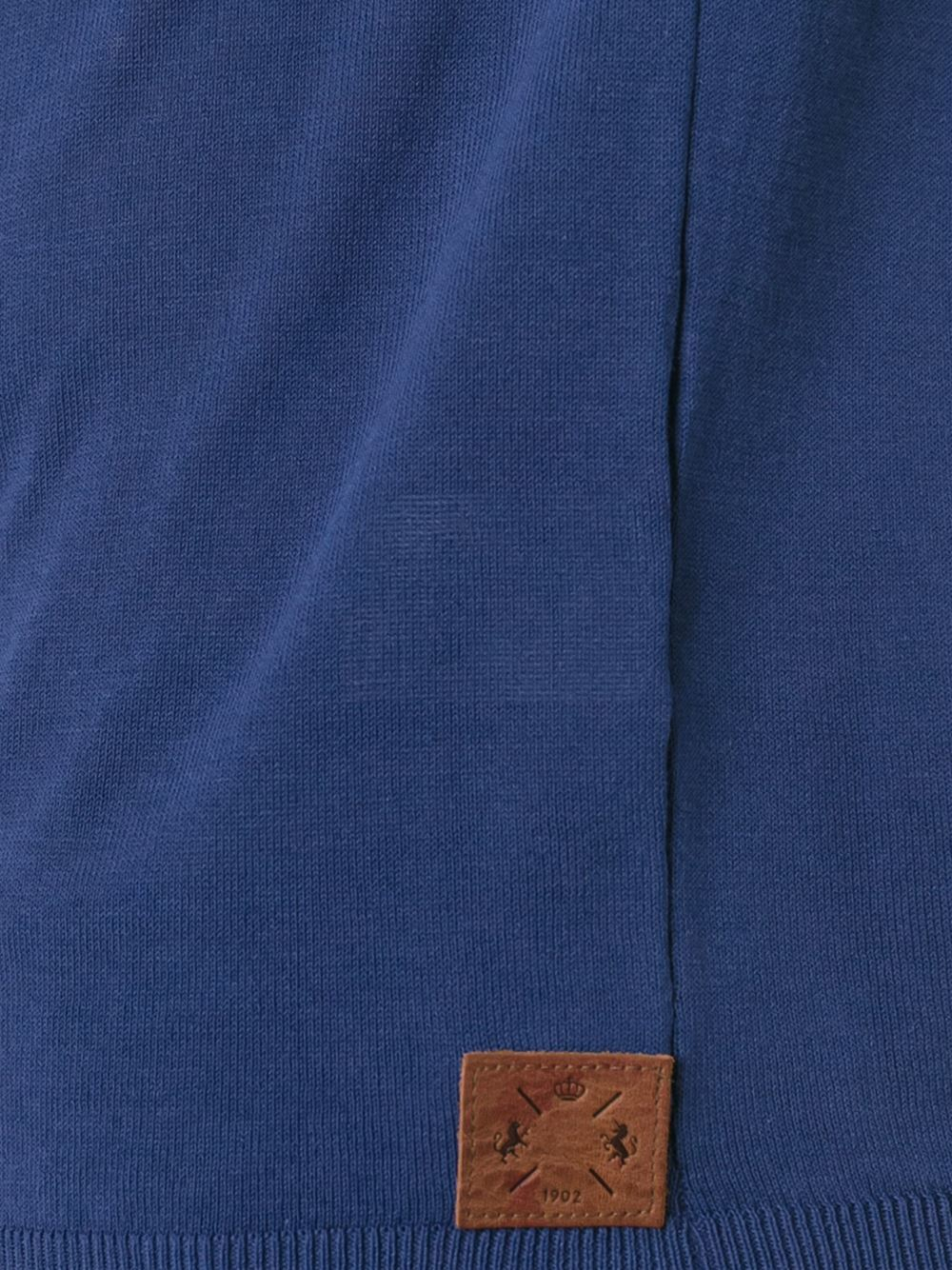 Al Duca d'Aosta Cotton Knit Polo Shirt in Blue for Men