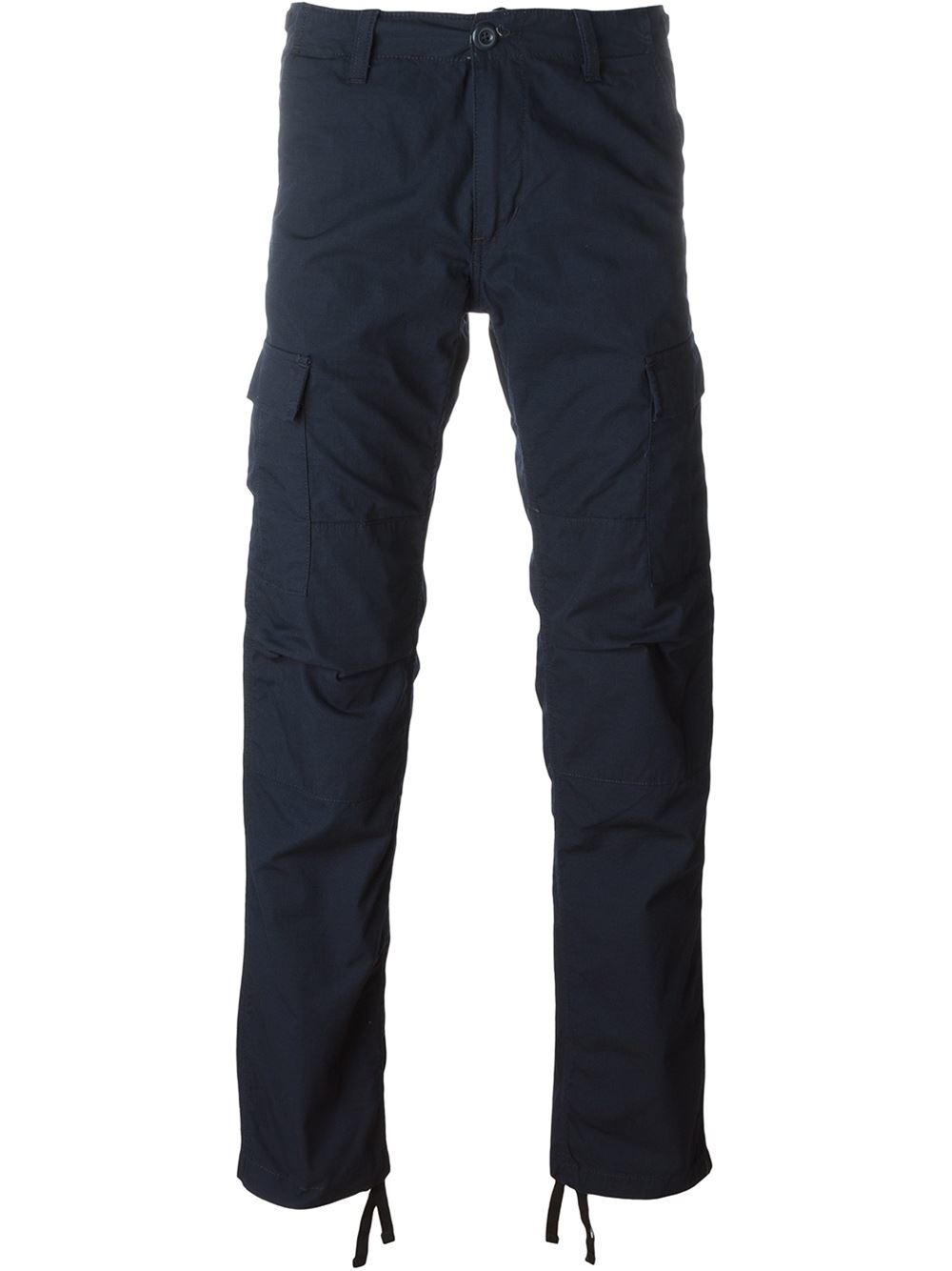 Lyst - Carhartt Cargo Slim Trousers in Blue for Men