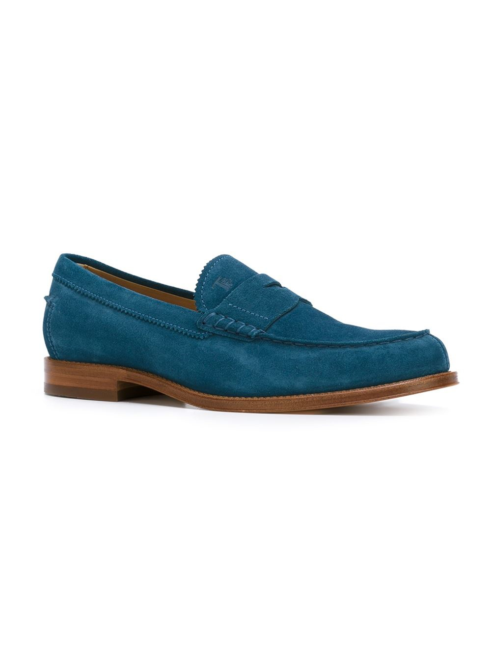 Tod's Classic Penny Loafers in Blue for Men - Lyst