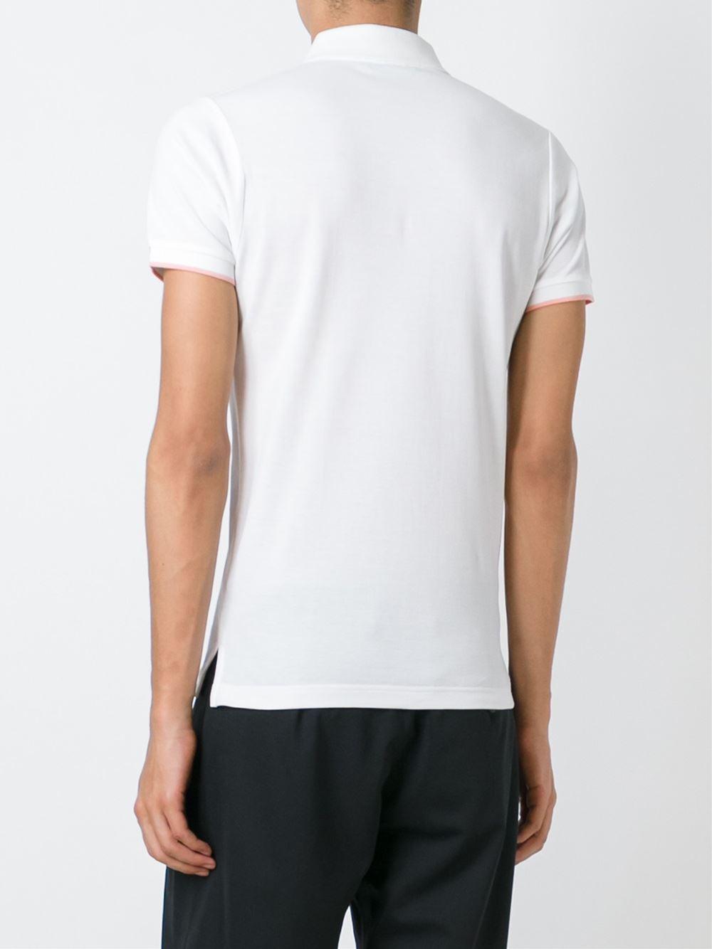 Etro - Embroidered Flamingo Polo Shirt - Men - Cotton - S in White for Men
