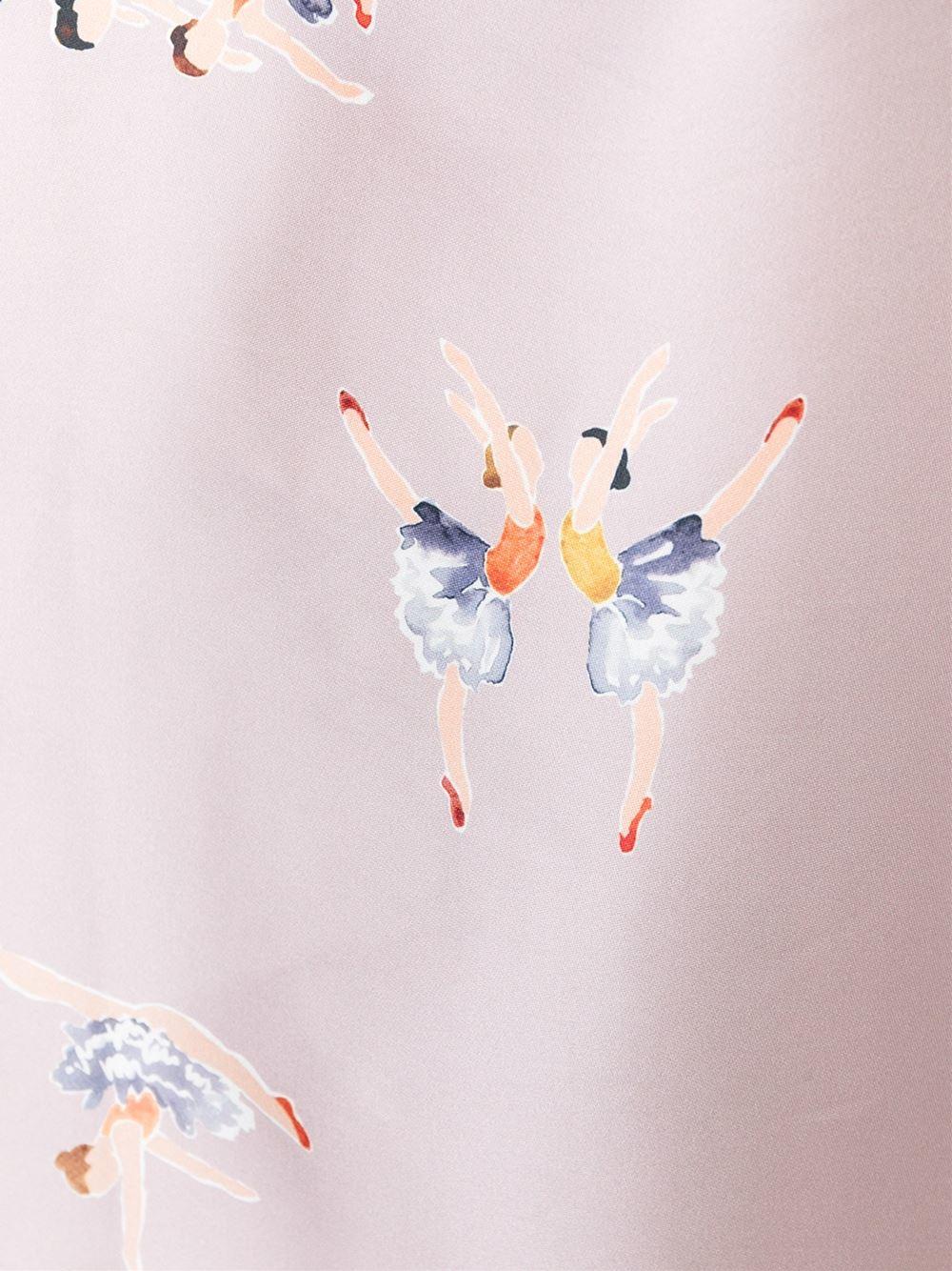 rochas ballerina print shift dress in pink lyst