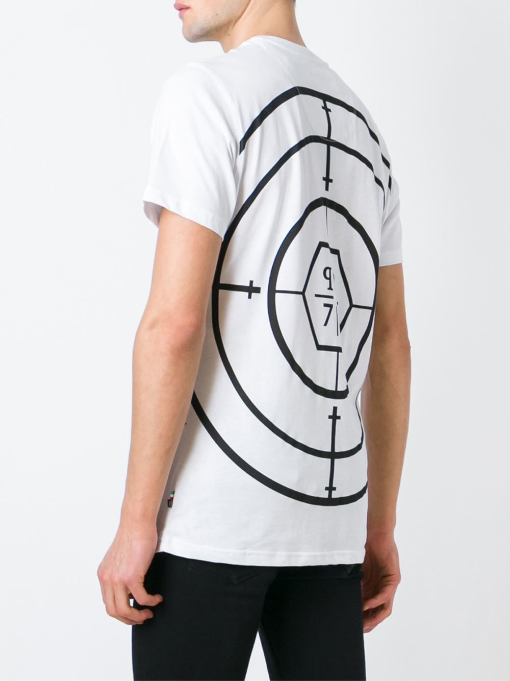 philipp plein target engaged t shirt in white for men lyst. Black Bedroom Furniture Sets. Home Design Ideas
