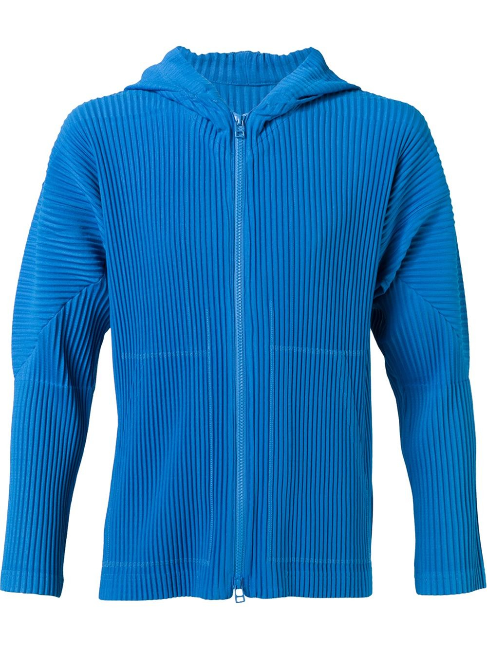 lyst homme pliss issey miyake homme pliss issey miyake track hoodie in blue for men. Black Bedroom Furniture Sets. Home Design Ideas