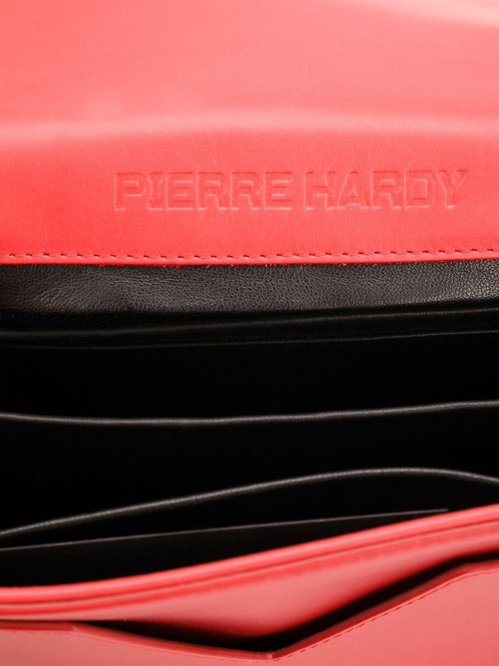 Pierre Hardy Leather Prism Crossbody Bag in Red