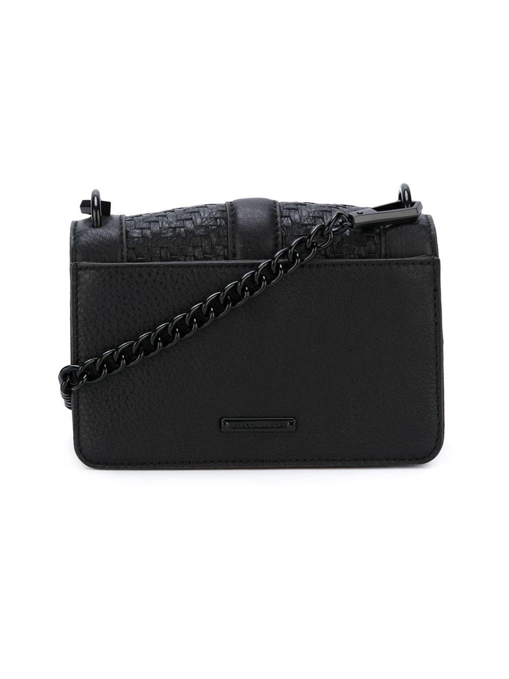 Rebecca Minkoff Leather Love Crossbody Bag in Black