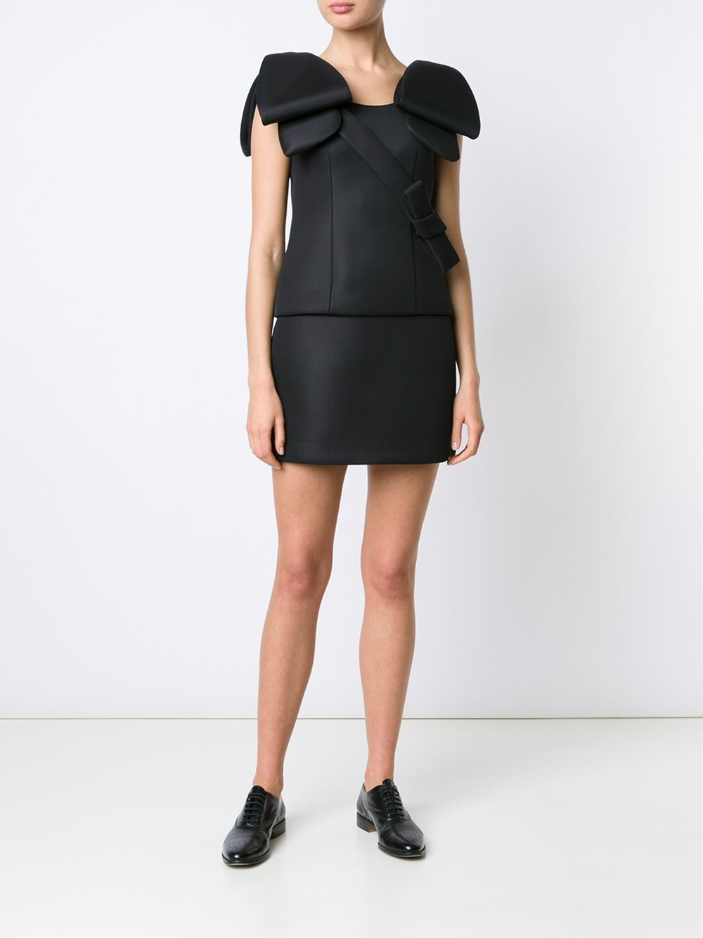 rocha a line mini skirt in black lyst