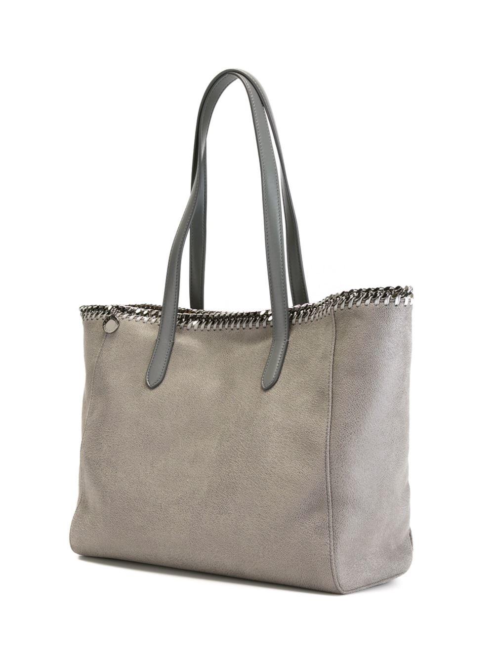 Stella McCartney Leather 'falabella' Shopper Tote in Grey (Grey)