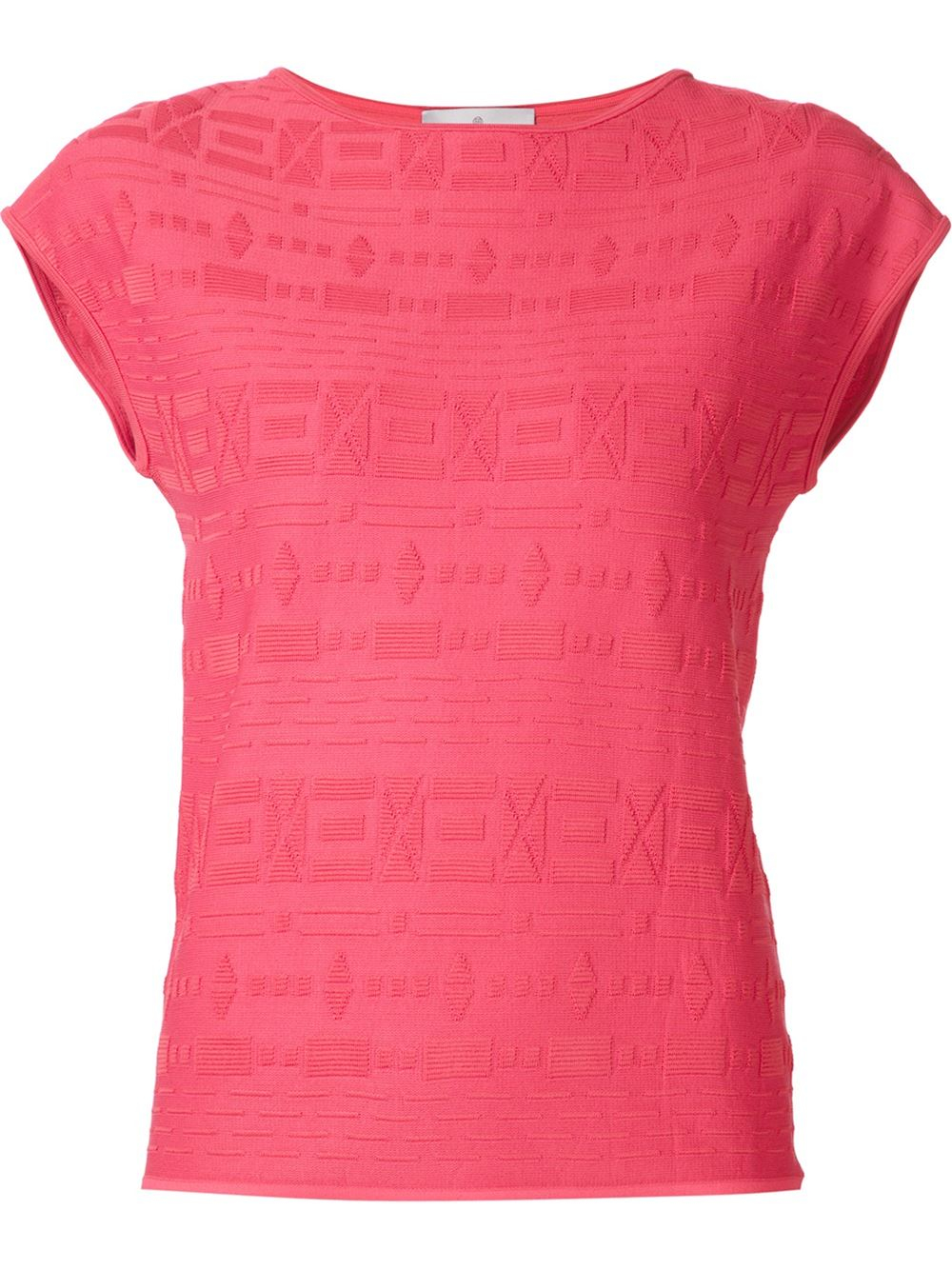 Knitted Shirt Pattern : Maison ullens Geometric Pattern Knitted T-shirt Lyst