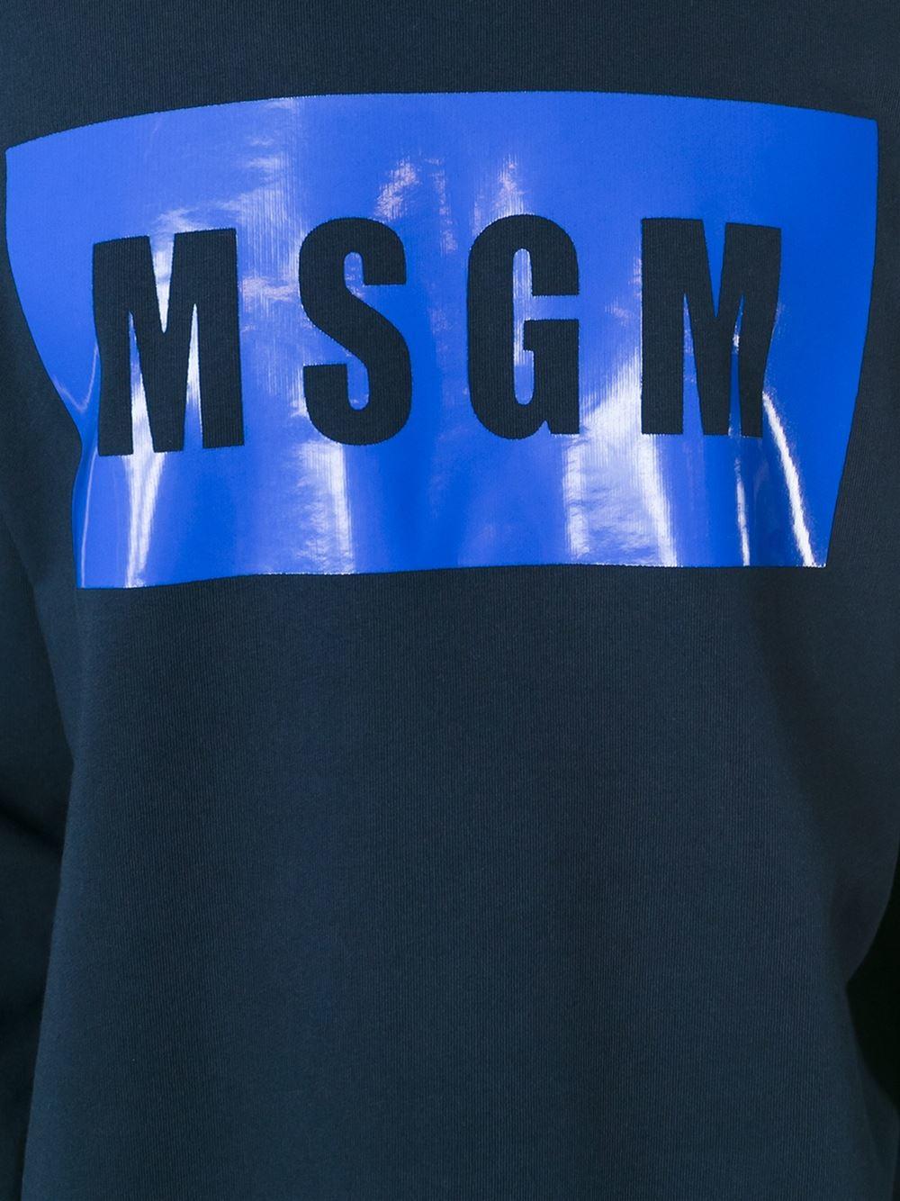 Msgm Blue Sweatshirt In Blue For Men Lyst