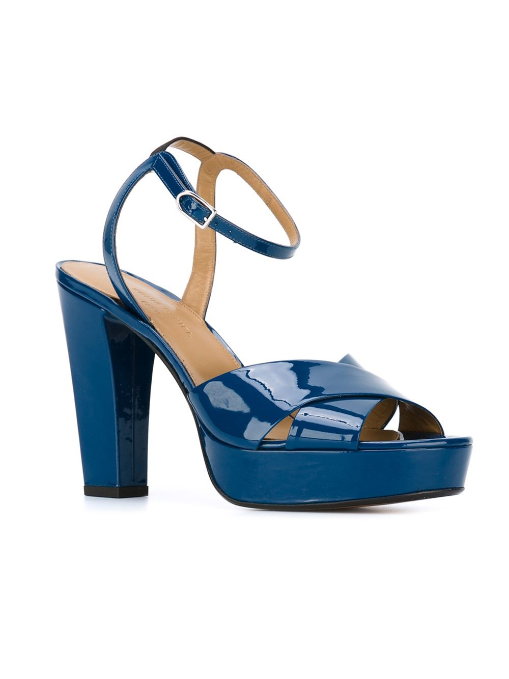 rykiel platform sandals in blue lyst