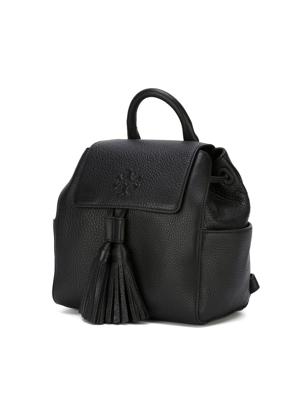 Lyst Tory Burch Tassel Detail Backpack In Black