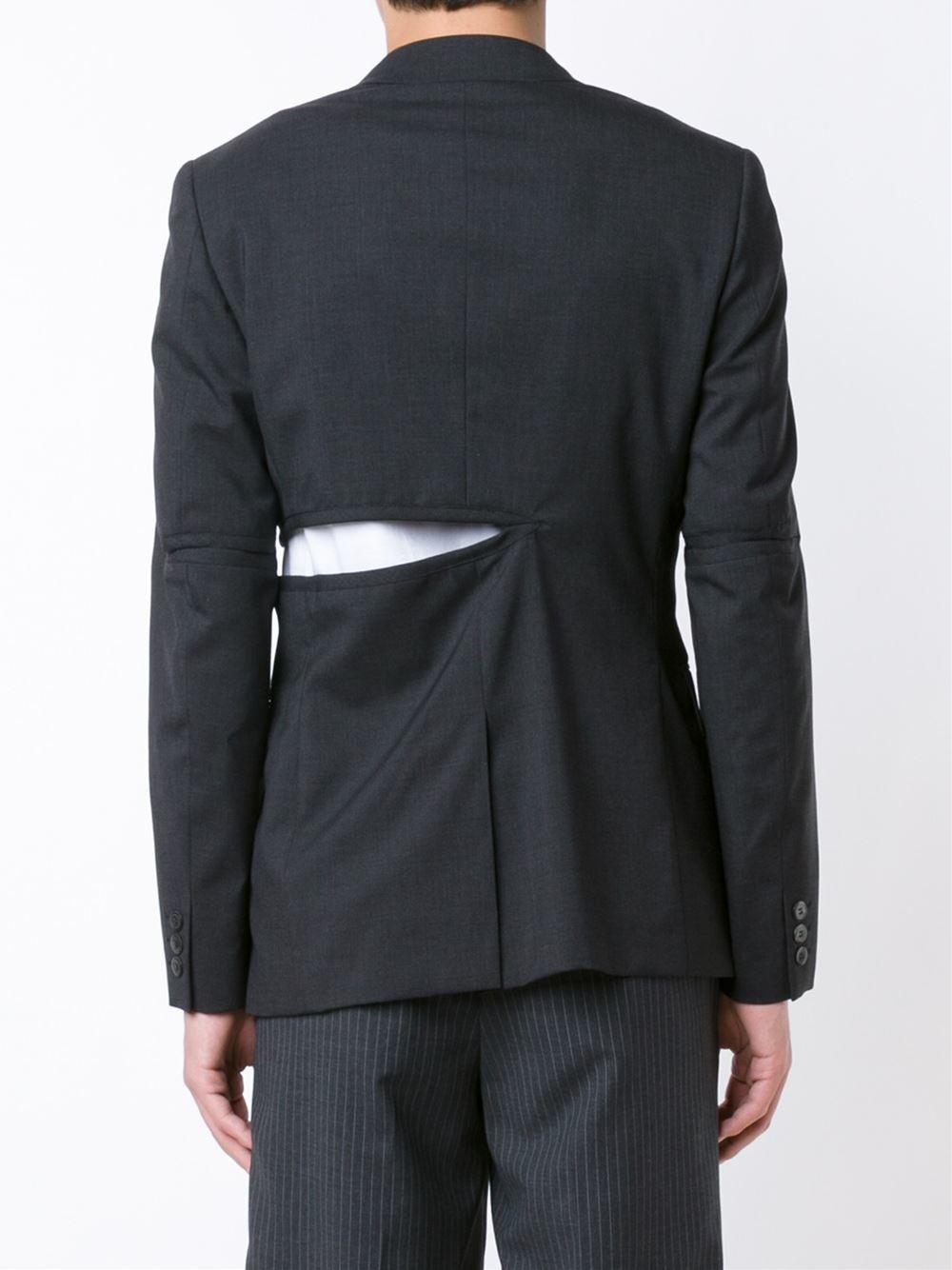 Comme des Garçons Wool Single-breasted Blazer Jacket in Grey (Grey) for Men