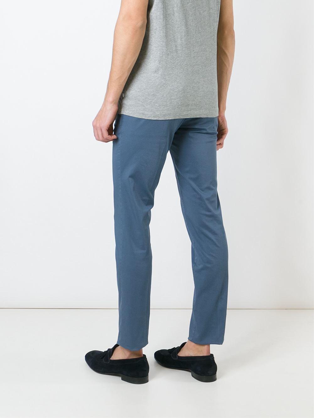 PT01 Cotton Malibu Chino Trousers in Blue for Men
