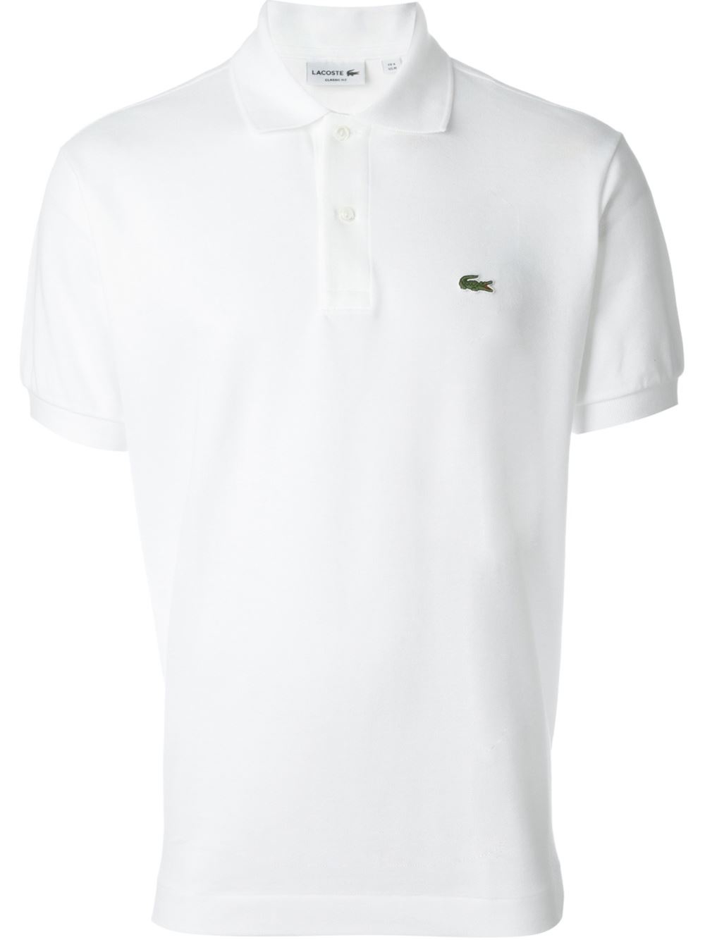 lacoste classic piqu polo shirt in white for men lyst. Black Bedroom Furniture Sets. Home Design Ideas