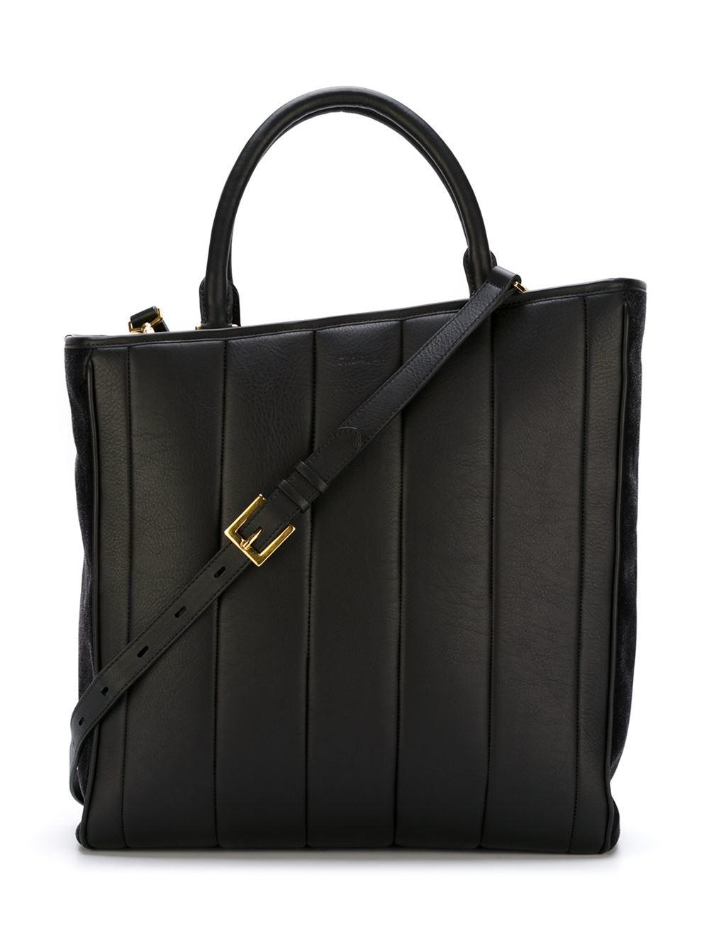 Chalayan Leather 'inertia' Tote in Black