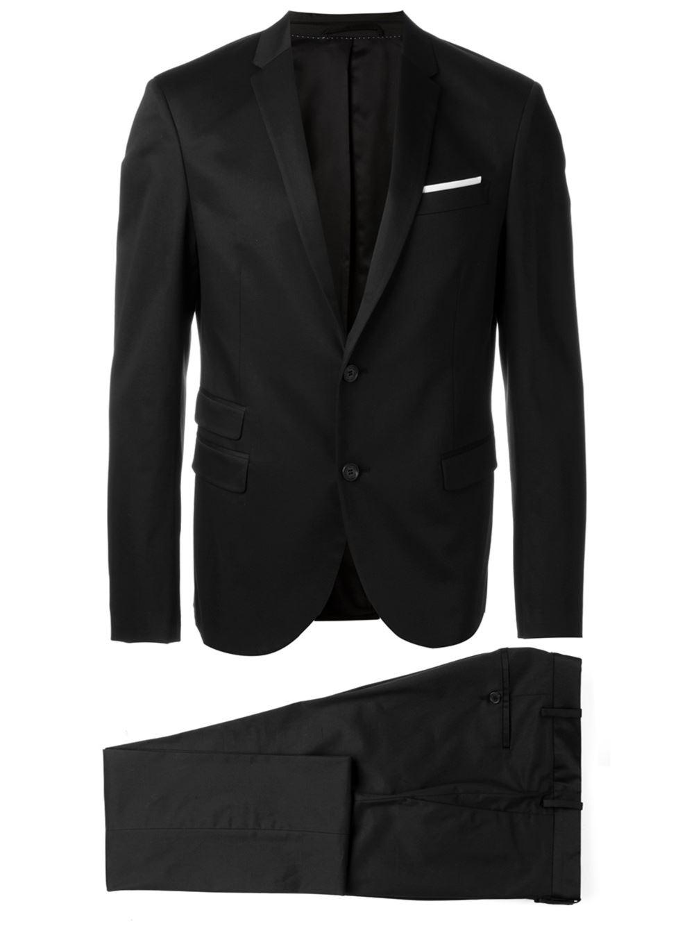 Lyst neil barrett classic formal suit in black for men for Neil barrett tuxedo shirt