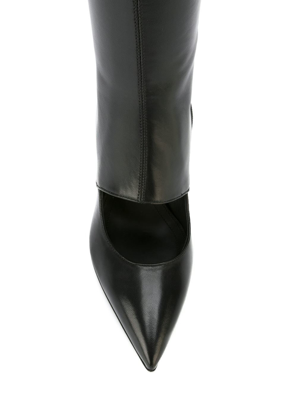 JW Anderson Leather Cut-out Wedge Boots in Black