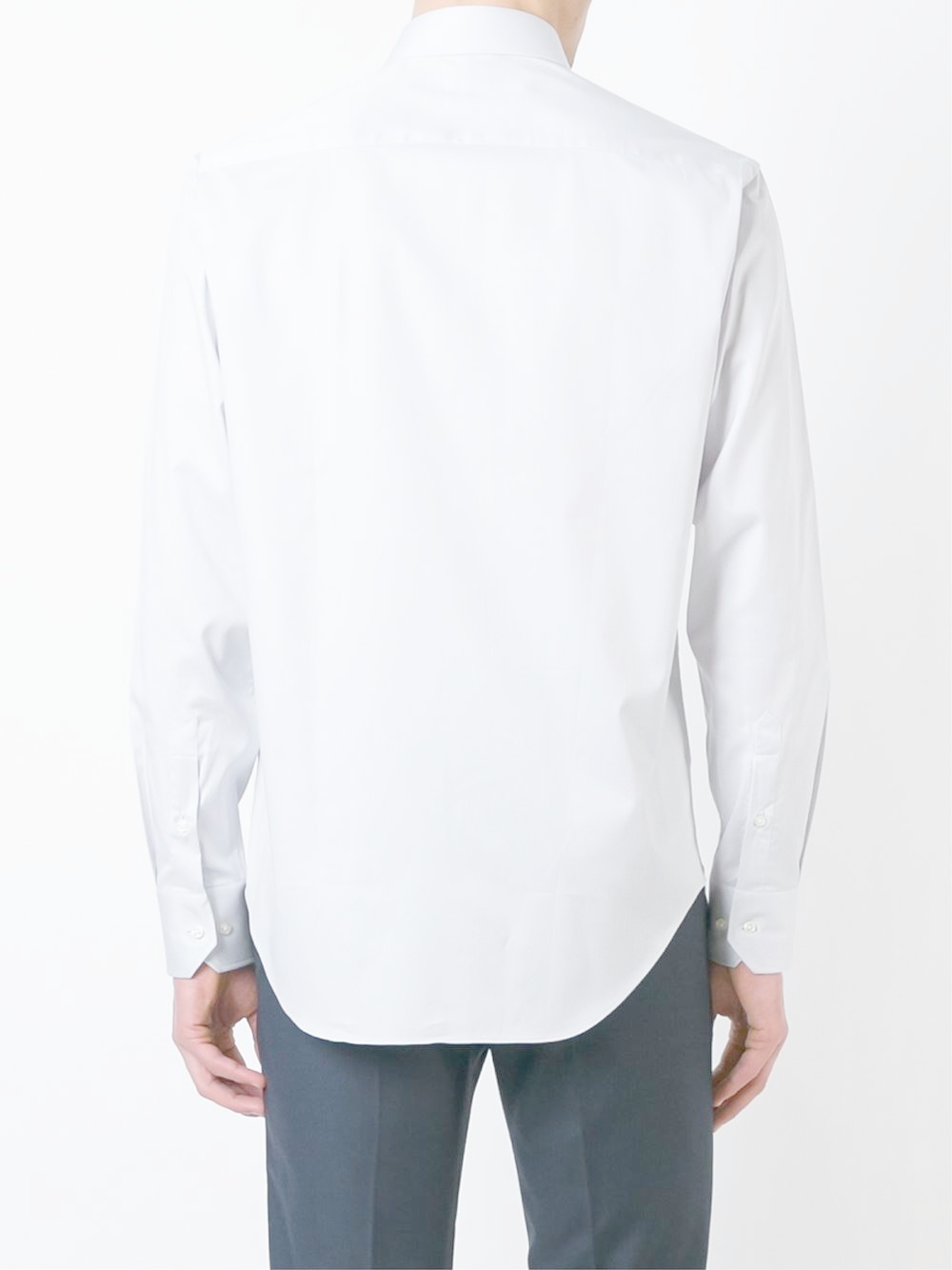 Armani cuffed classic button down dress shirt in gray for for Mens grey button down dress shirt