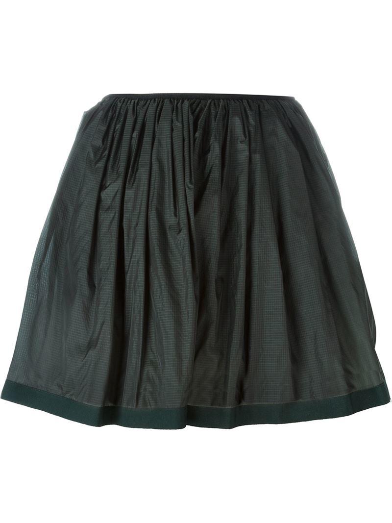 arthur arbesser pleated mini skirt in green save 36 lyst