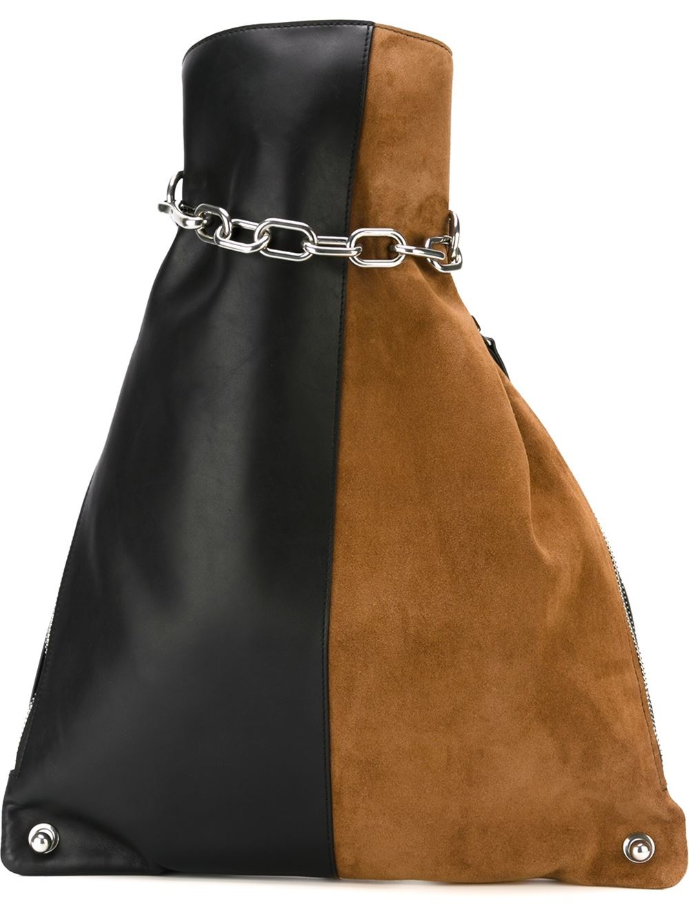349782051ff8 Alexander Wang Attica Chain Gymsack In Suede Combo With Rhodium in ...