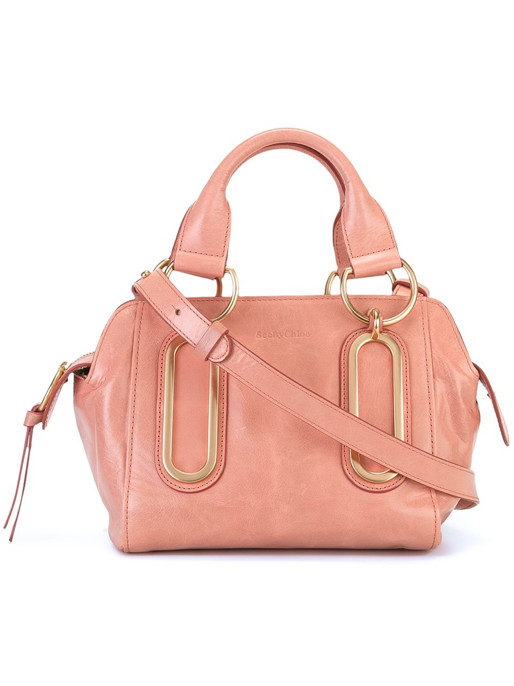 See By Chlo 233 Leather Small Paige Tote In Pink Amp Purple