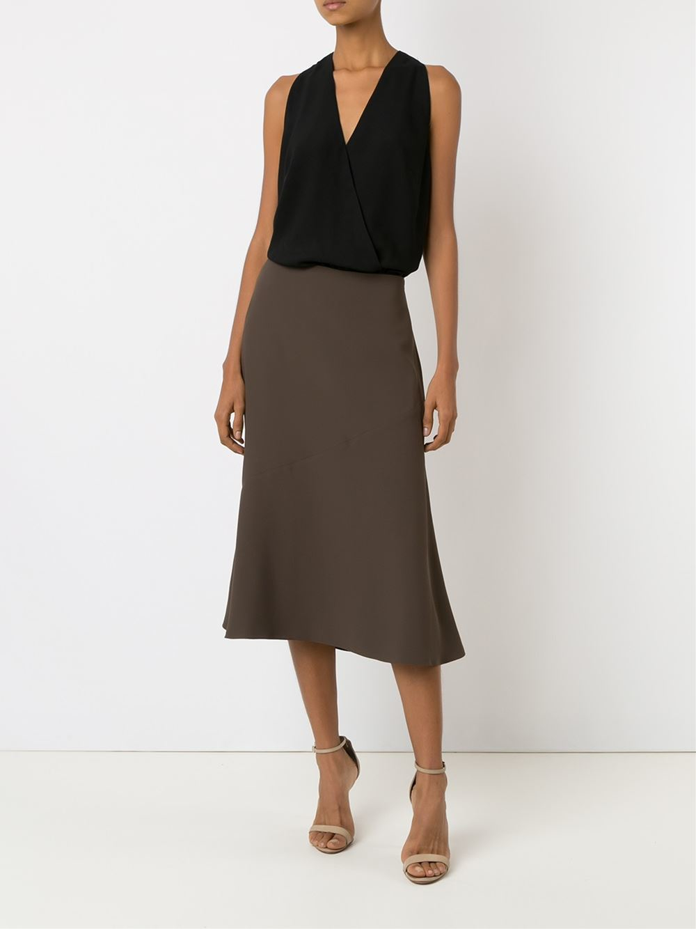 Andrea marques Mid-length A-line Skirt in Gray (GREEN)