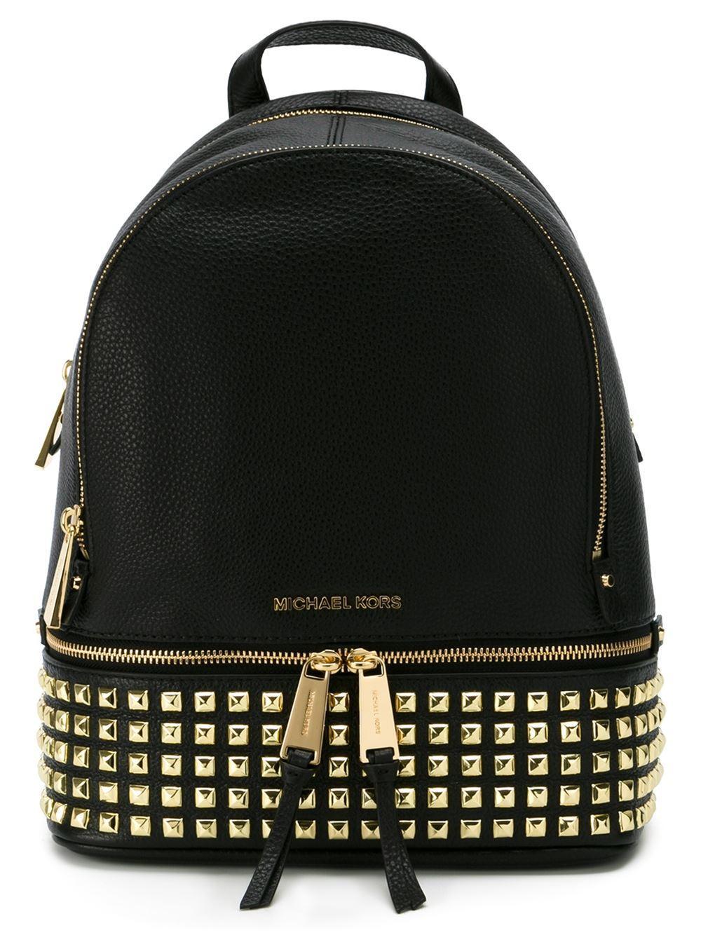 michael michael kors small 39 rhea 39 studded backpack in. Black Bedroom Furniture Sets. Home Design Ideas