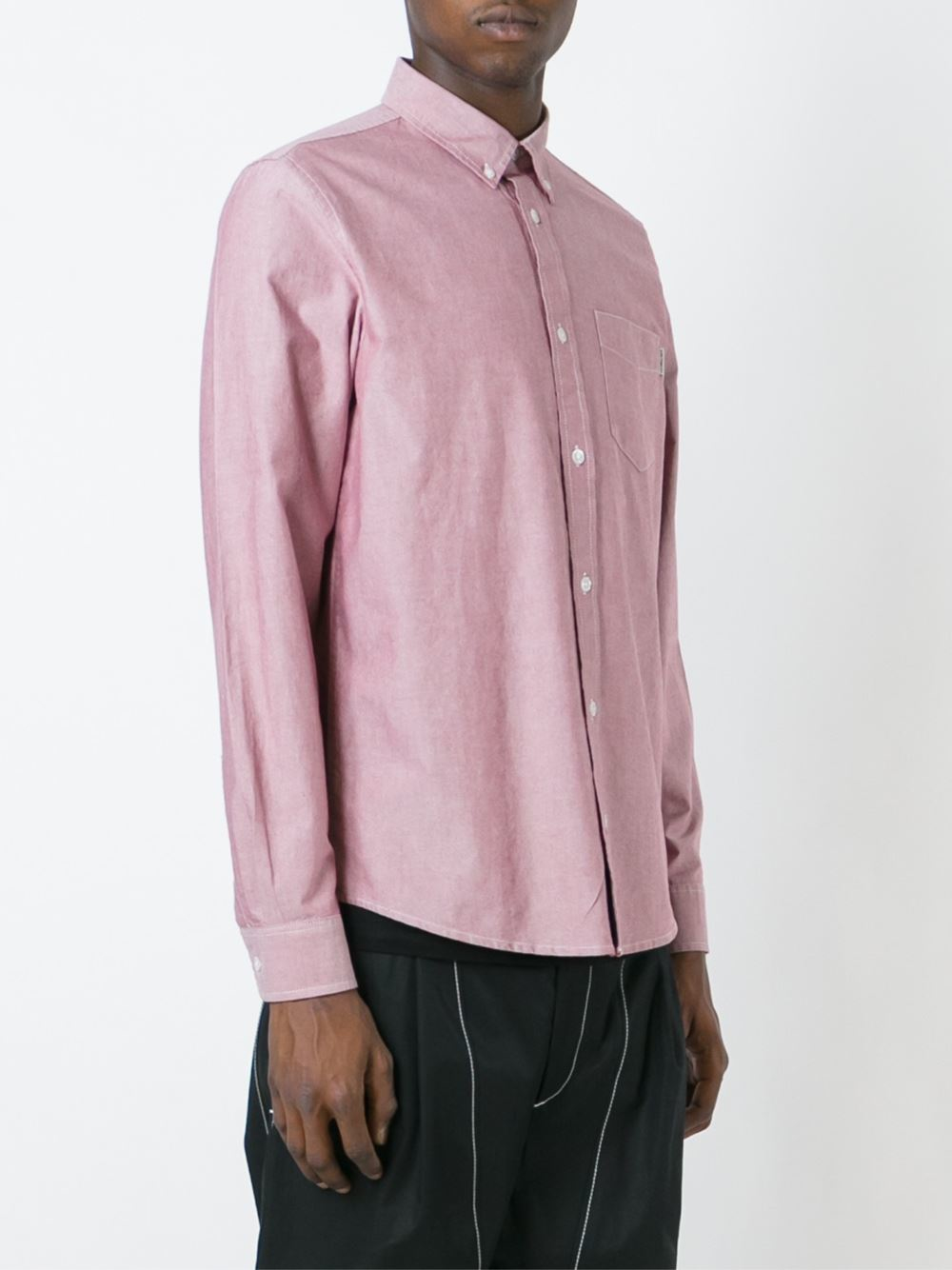 Carhartt oxford shirt in pink for men lyst for Pink oxford shirt men