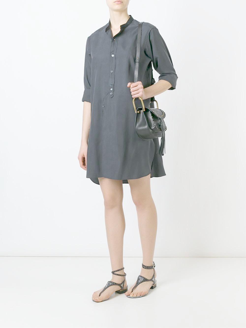 Isabel marant classic shirt dress in black lyst for Isabel marant shirt dress